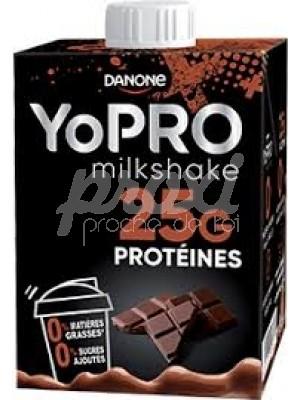 YOPRO MILKSHAKE AU CHOCOLAT  0%MG SANS SUCRE 500 ML