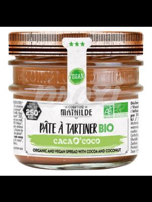 MATHILDE PATE A TARTINER BIO CACAO COCO 250 G