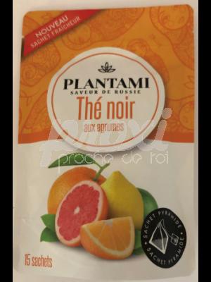 PLANTAMI THE NOIR AUX AGRUMES  SACHETS *15