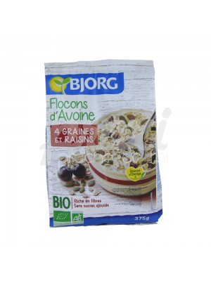 FLOCON D'AVOINE BIO SANS SUCRE 375 G